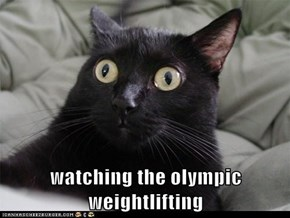 watching the olympic weightlifting