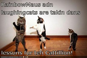 RainbowMaus adn laughingcats are takin dans  lessuns fur teh Cattillion!