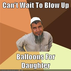 Can't Wait To Blow Up  Balloons For Daughter