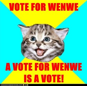 VOTE FOR WENWE  A VOTE FOR WENWE IS A VOTE!