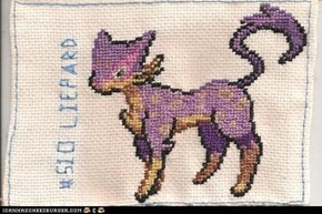 Stitched pixel by pixel