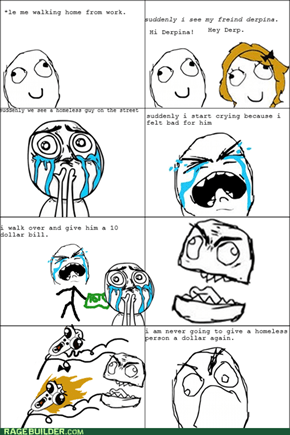 homless person rage
