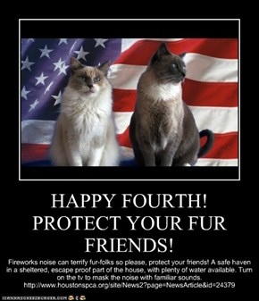 HAPPY FOURTH! PROTECT YOUR FUR FRIENDS!