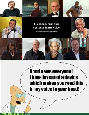 Of all the voices...