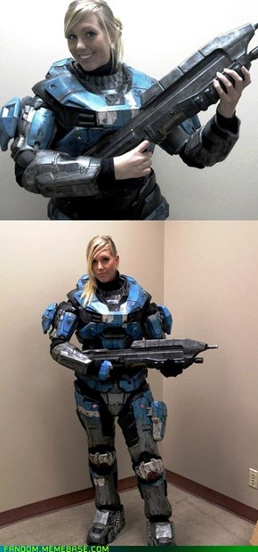 Sexy Blue Spartan