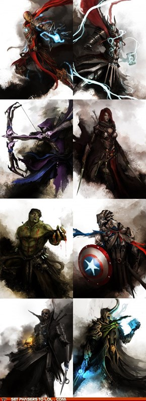 The Avengers are Dark Fantasy Characters