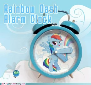Rainbow Dash clock