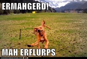 ERMAHGERD!  MAH ERFLURPS