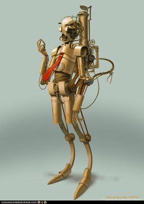 Steam-punk C-3PO