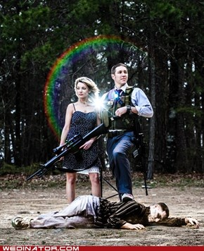 Zombie Apocalypse Engagement Photos