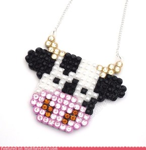 Super Sparkly Cow Necklace