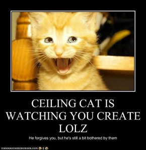 CEILING CAT IS WATCHING YOU CREATE LOLZ