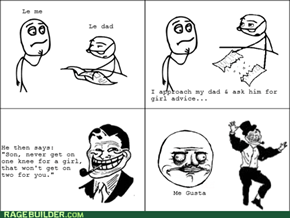 Troll dad's advice
