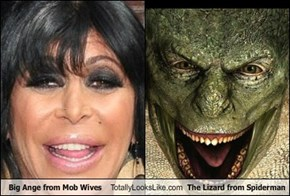 Big Ange from Mob Wives Totally Looks Like The Lizard from Spiderman