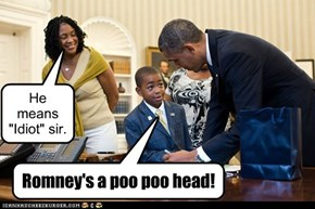 Romney's a poo poo head!
