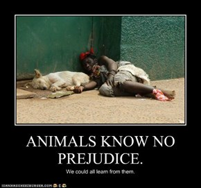 ANIMALS KNOW NO PREJUDICE.