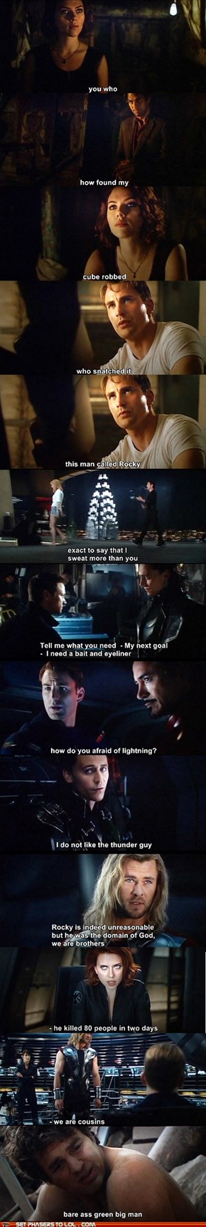 "Chinese Bootleg Copy of ""The Avengers"" has Hilarious Subtitles"