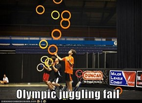 Olympic juggling fail