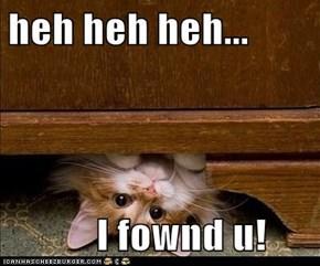 heh heh heh...             I fownd u!