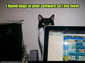 I found bugs in your software so I ate them