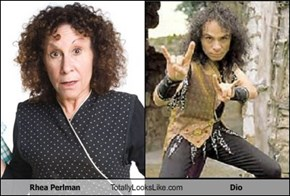 Rhea Perlman Totally Looks Like Dio