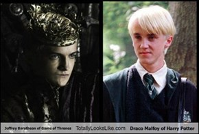 Joffrey Baratheon of Game of Thrones Totally Looks Like Draco Malfoy of Harry Potter