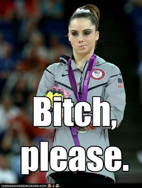 McKayla Maroney's got your displeasure meme right here.