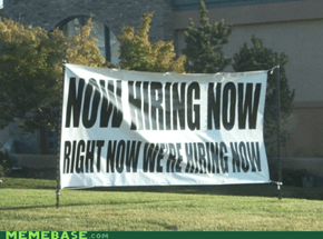 When are they hiring again?