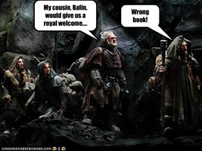 My cousin, Balin, would give us a royal welcome....