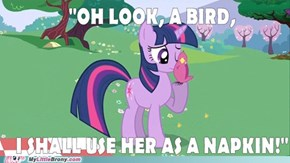 Twilight Sees A Bird