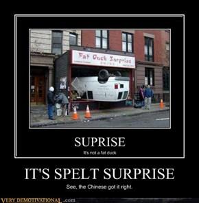 IT'S SPELT SURPRISE