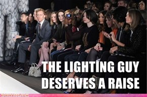 Even Runway Models Can't Keep the Spotlight off of Hiddles