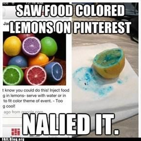 Colored Lemons FAIL