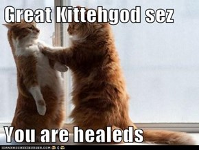 Great Kittehgod sez  You are healeds
