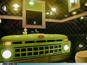 Truck Stop Bathroom