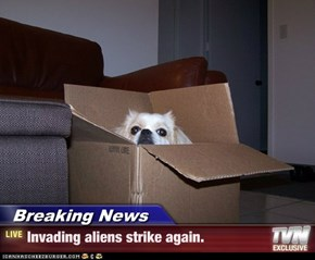 Breaking News - Invading aliens strike again.