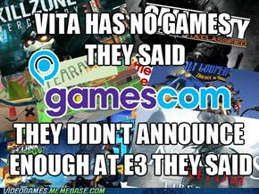 Sony's attitude at gamescom 2012