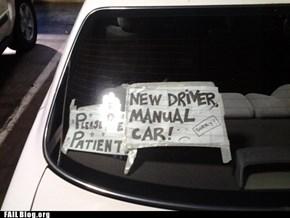 New Driver FAIL