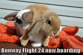 Bunway Flight 24 now boarding