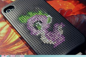 Spike Cross Stitch iPhone Case