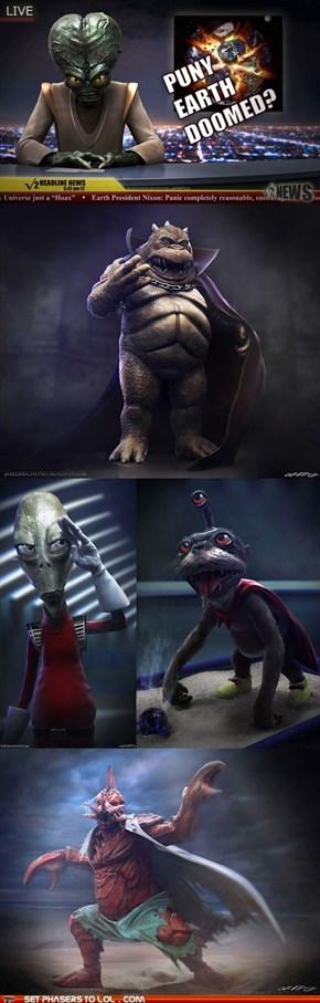 Realistic Futurama Aliens