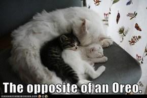 The opposite of an Oreo.