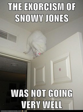 THE EXORCISM OF SNOWY JONES  WAS NOT GOING VERY WELL