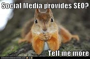 Social Media provides SEO?  Tell me more