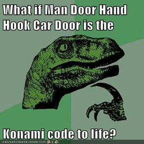 What if Man Door Hand Hook Car Door is the  Konami code to life?