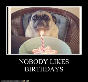 NOBODY LIKES BIRTHDAYS