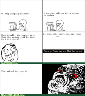 Minecraft Server troll!