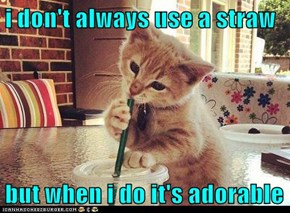 i don't always use a straw  but when i do it's adorable