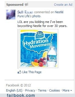 Facebook advertising, FAIL