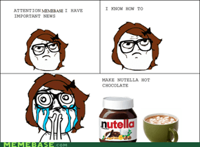 NUTELLA HOT CHOCOLATE!!!!